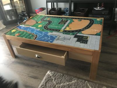 KidKraft train /play table. Trains and track included.