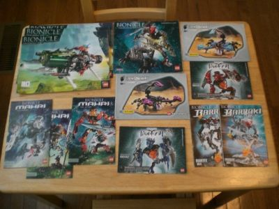 10 Lego Bionicle Instruction Books