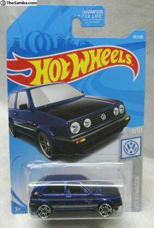 2019 Hot Wheels Volkswagen Golf Mk2 - Blue