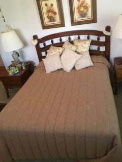 Vintage double/ full bed with mattress