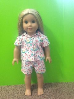 """Summer Pajamas for American Girl and most 18"""" dolls"""