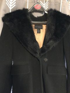 Express World Brand wool long coat with hood