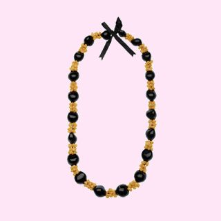 Kukui Nut Yellow Shell Lei Necklace