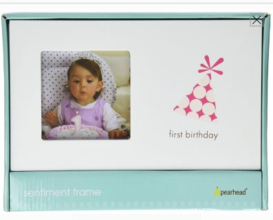 First Birthday Girl Frame By Pearhead
