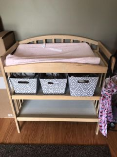 Used changing table with pad!