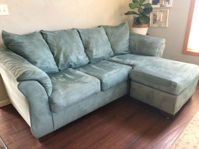 Dark turquoise couch