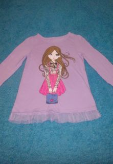 SP, Faded Glory brand size 6 long sleeve cute glittery shirt BUNDLE DISCOUNT IF PURCHASE $25-$4