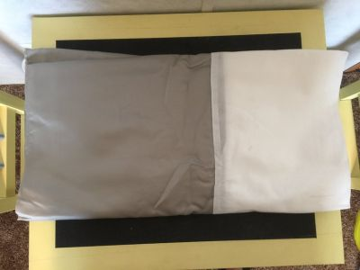 New Never Used Queen Bed Skirt/Silver