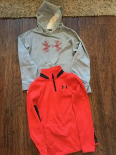 Youth Under Armour hoodie and pull over