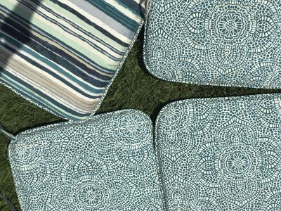 Outdoor Reversible chair cushions