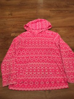 Children s Place brand pink polyester pull over hooded sweater. In GUC. Size XL 14. Asking $5