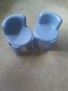 2 small fisher price chairs