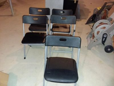 Five Folding Chairs
