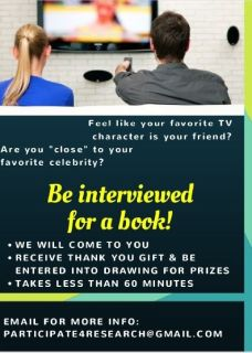 Free giftcard-be interviewed for a book!