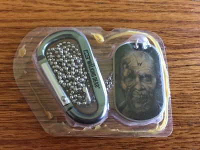 Walking dead dog tag necklace and hook