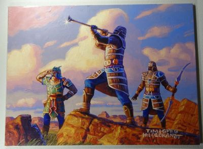 "HILDEBRANDT BROTHERS - Original Signed Painting ""Reveille Squad"" - Magic The Gathering Prophecy"