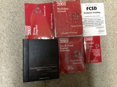 Sell 2003 LINCOLN TOWN CAR Service Shop Repair Manual Set 03 FACTORY 6 BOOKS PCED EWD motorcycle in Sterling Heights, Michigan, United States, for US $339.99