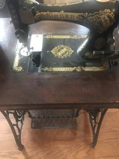 Singer sewing machine from 1800s