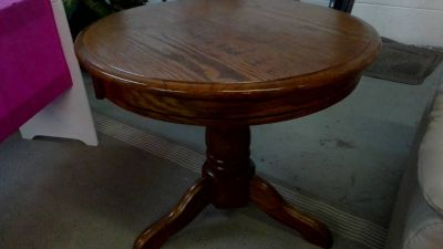 cherry end table round