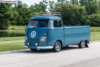1959 VW Single Cab Pickup Dove Blue RESTORED