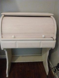 Adorable kids size desk!!! Super cute roll top with storage drawer.