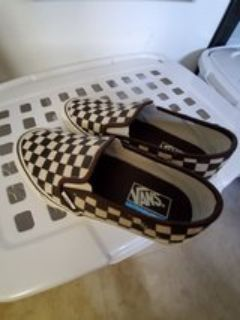 distressed checkered vans