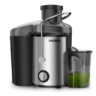 Juice Extractor, 400W Stainless Steel Centrifugal Juicer with 65MM Wide Mouth, 3 Speed Setting Juicer Machine with 450ml Juice Container &