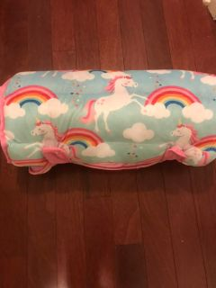 Unicorn sleep mat adorable so thick and comfy great condition!!!