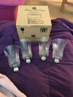 Set of 4 candle votives for wall sconces