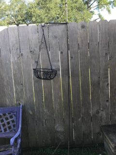 Plant stand with hanging basket ($12 for both)
