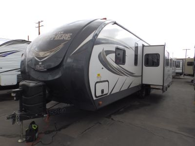 "2018 Forest River SALEM HEMISPHERE 269RL, 1 SLIDE, REAR LOUNGE RECLINERS, WALK AROUND QUEEN BED, POWER AWNING, POWER STABILIZER JACKS, 40"" LED TV"