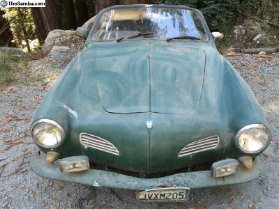 Convertible Karmann Ghia on EBay, ends Sun.5/26/19