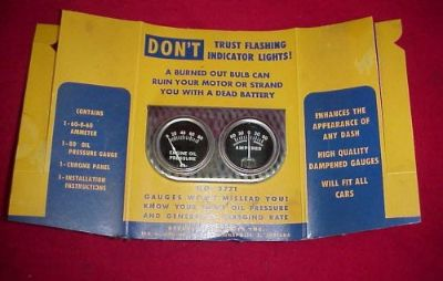 "Find NOS VINTAGE OIL PRESSURE AMMETER GAUGES 2-1/8"" MECHANICAL CHEVY FORD RAT HOT ROD motorcycle in Fort Wayne, Indiana, United States, for US $59.95"