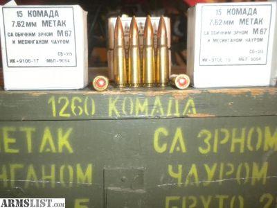 For Sale: Yugo 7.62X39 ammo