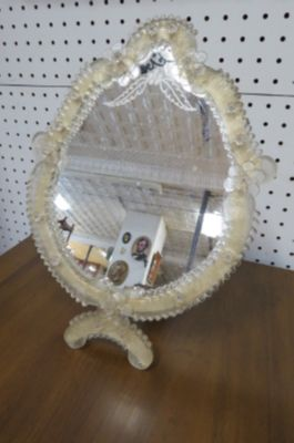 Vintage Antique Venetian glass table/wall mirror