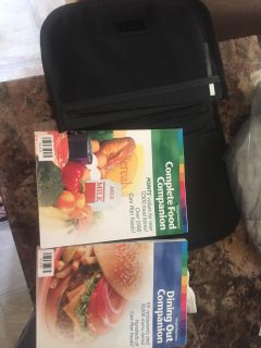 Weight watcher books with case