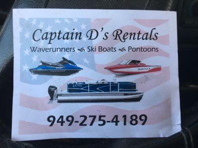 Captain D's Rentals waverunners pontoons ski boats