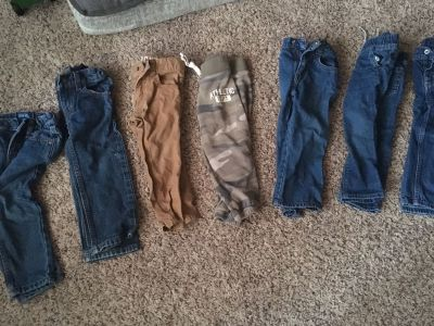 7 pairs of toddler 2T pants