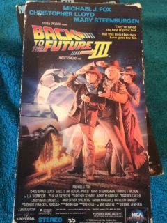 Back to the future VHS 1/2/3