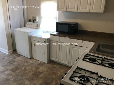 2 beds 1 bath I $950 | 1431 N Decker Ave, Baltimore MD 21213 | Central Air - Vouchers Accepted