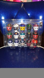 New in package. NHL mini plastic hockey goalie helmets set of 30. Average online price w/shipping is $55.00 Asking $36.00