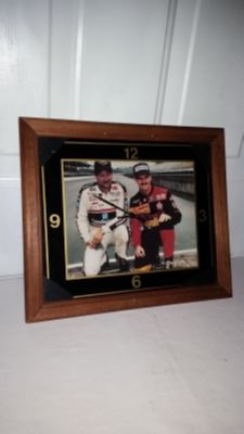 Dale Earnhardt Senior and Davey Allison very rare clock. 13.5 by 11.5. works great. $12