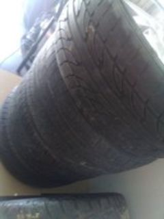 "22"" universal lug rims got gud treads dey were my big brothers but he passed away so trying to g..."