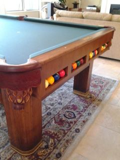 1937 Brunswick Antique 20th Century Pool Table