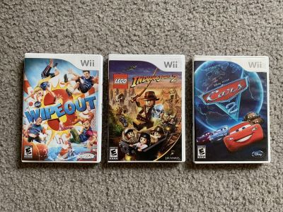 Wipeout 3, LEGO Indiana Jones, Cars 2. Wii Games