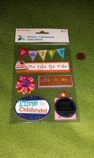 Life of the Party Birthday Dimensional Stickers