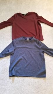 2 brand new XL long sleeve thermal shirts