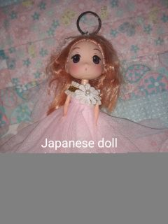 Japanese doll keyring