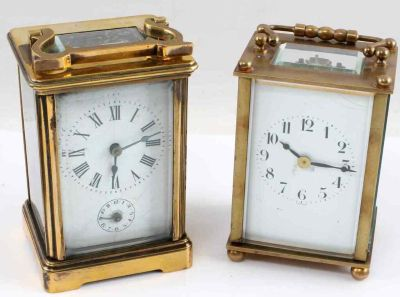 Antique French brass clock
