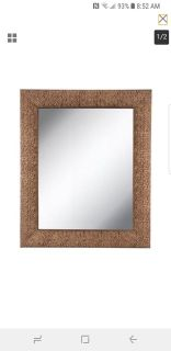 """HAMMERED COPPER FRAMED METAL WALL MIRROR 35"""" X 29"""""""